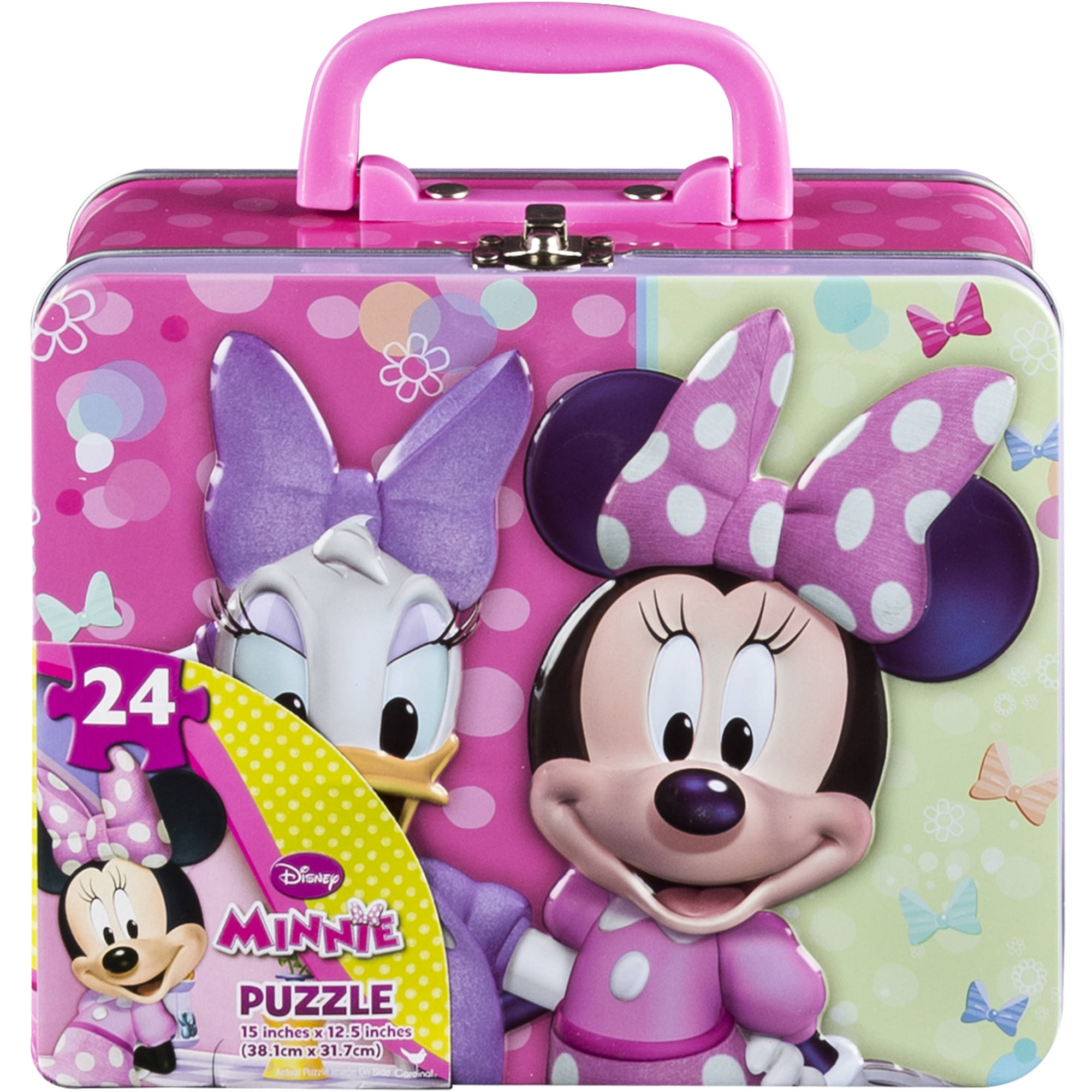 Disney Junior Minnie Mouse 24-Piece Puzzle in Tin Box with Handle