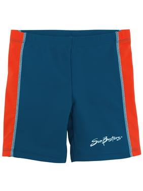 SunBusters Boys Swim Short(UPF 50+), Tangelo, 4/5 yrs