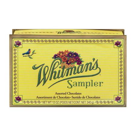 Whitmans Sampler - Whitman's Sampler Assorted Chocolates, 12 Oz.