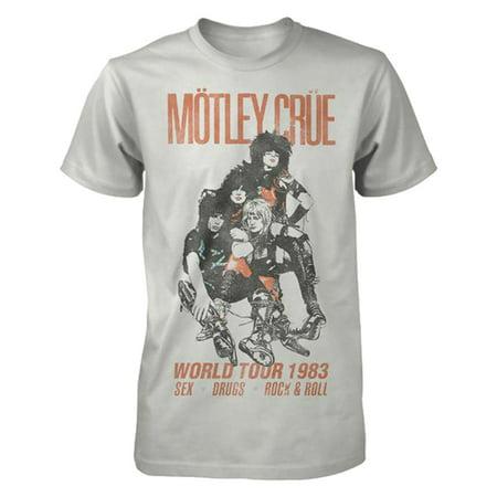 Miley Cyrus T-shirts - Motley Crue Vintage World Tour 1983 Graphic T-Shirt