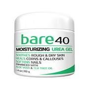 Bare Urea 40% Percent Cream for Hands, Feet, Elbows and Knees - Corn & Callus Remover - Skin Exfoliator & Moisturizer - Repairs Thick, Callused, Dead and Dry Skin