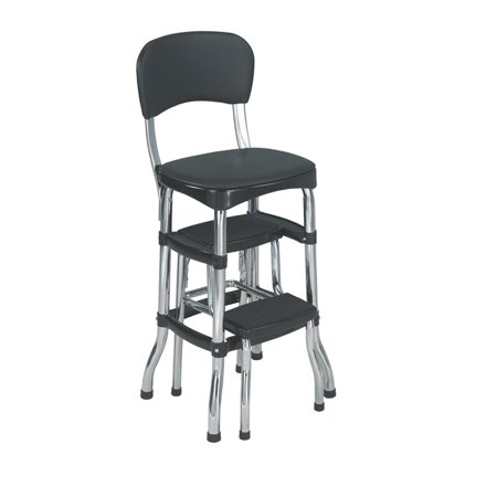 Surprising Cosco Black Retro Counter Chair Step Stool Pdpeps Interior Chair Design Pdpepsorg