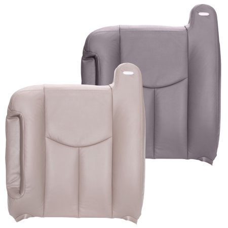 The Seat Shop Chevy Tahoe Driver Top OEM Fit Leather Seat Cover, Gray (Chevy Tahoe Driver Seat Cover)
