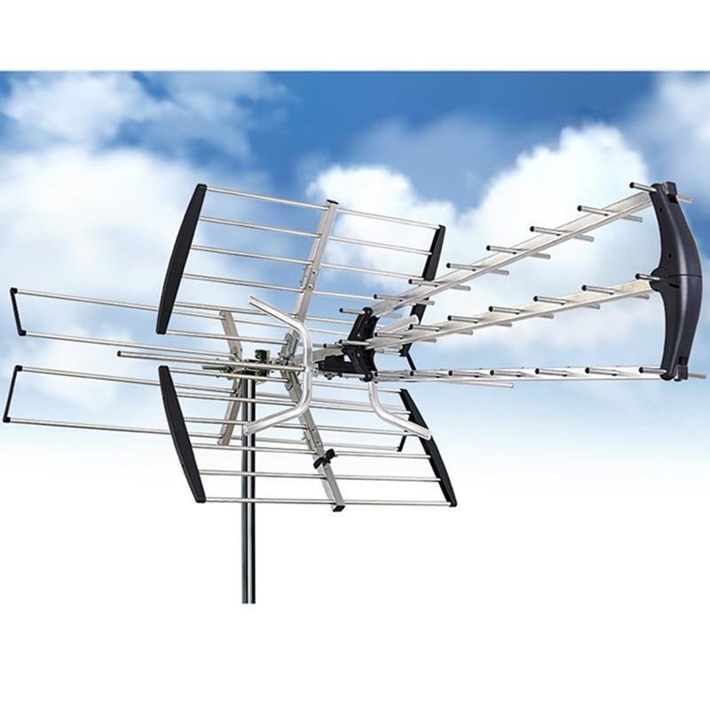 Outdoor HG-997 150 Miles HDTV Amplified Antenna HD TV Directional UHF/VHF/FM Radio