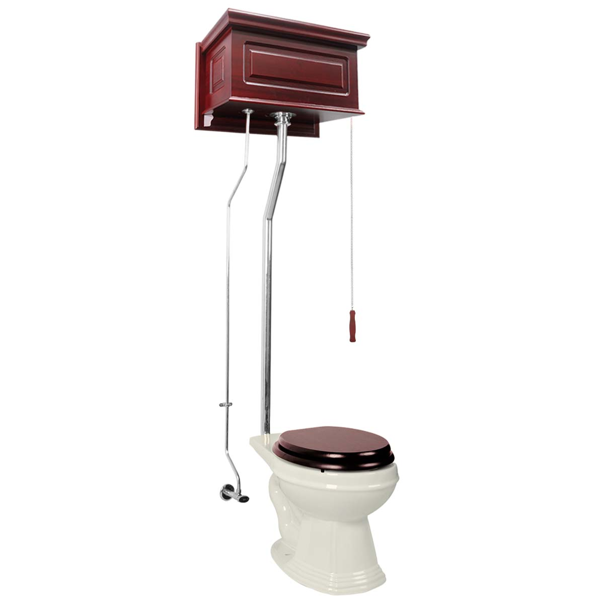 Cherry High Tank L-Pipe Toilet Elongated Biscuit Bowl | R...