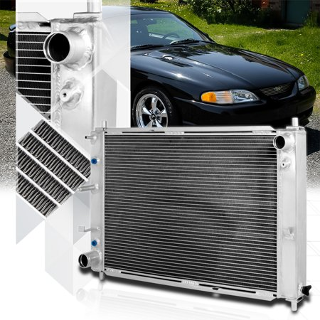 Aluminum 3 Row Performance Cooling Radiator for 97-04 Ford Mustang V8 Auto AT 98 99 00 01 02 (Mustang Aluminum Radiator)