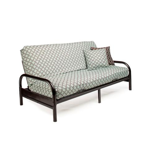 Night And Day Furniture Black Emma Full-size Futon Frame with 7-inch Mattress by Anchor Furniture