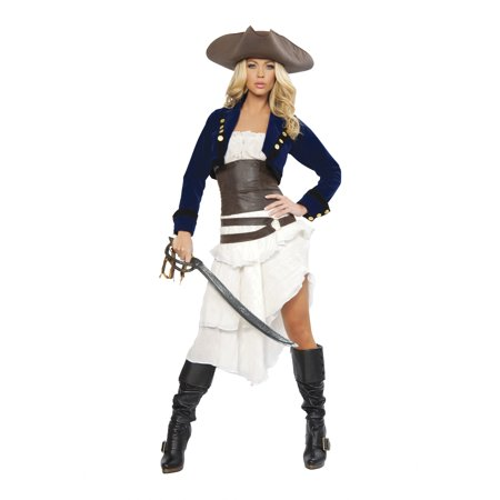 Colonial Halloween Costumes Adults (Colonial Pirate Women's Adult Halloween)
