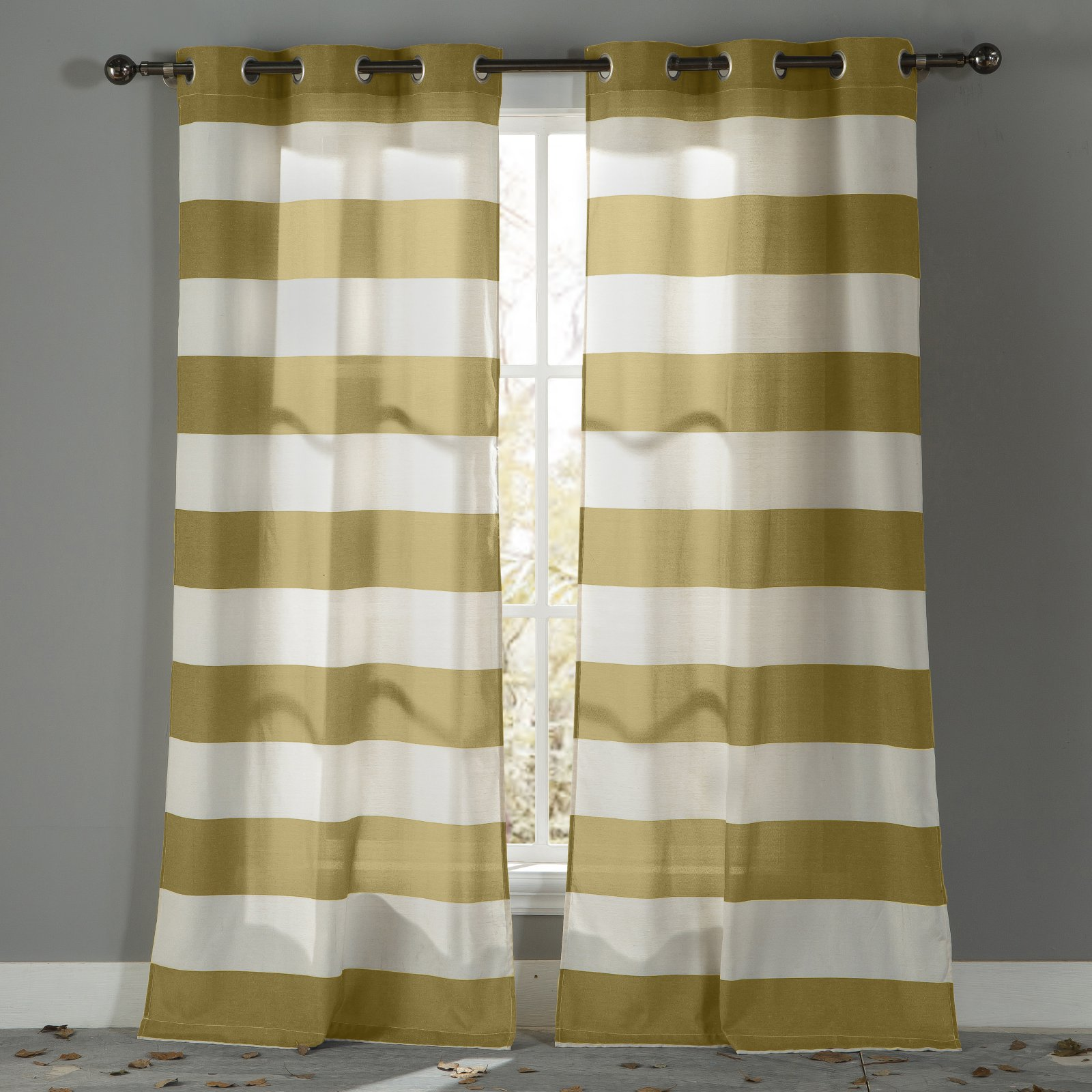 Kathi Stripe Cotton Grommet Pair Panel