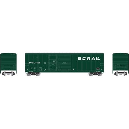 Athearn 24243 N British Columbia Railway 50 Fmc Combo Door Box Car  5435