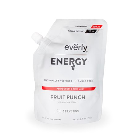 Everly, Energy Powdered Drink Mix, Fruit Punch, 20 Servings