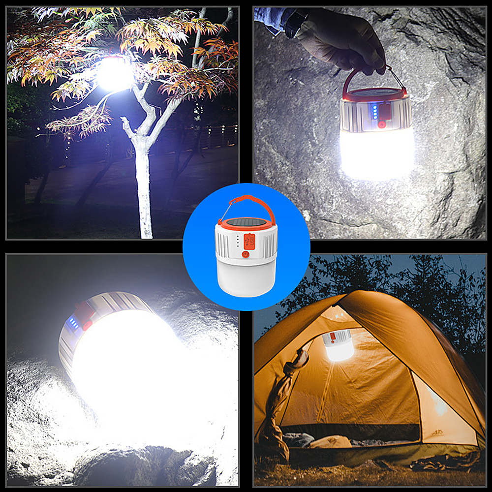 LED Camping Lantern Light Waterproof Rechargeable Portable Night Tent Lamp Torch