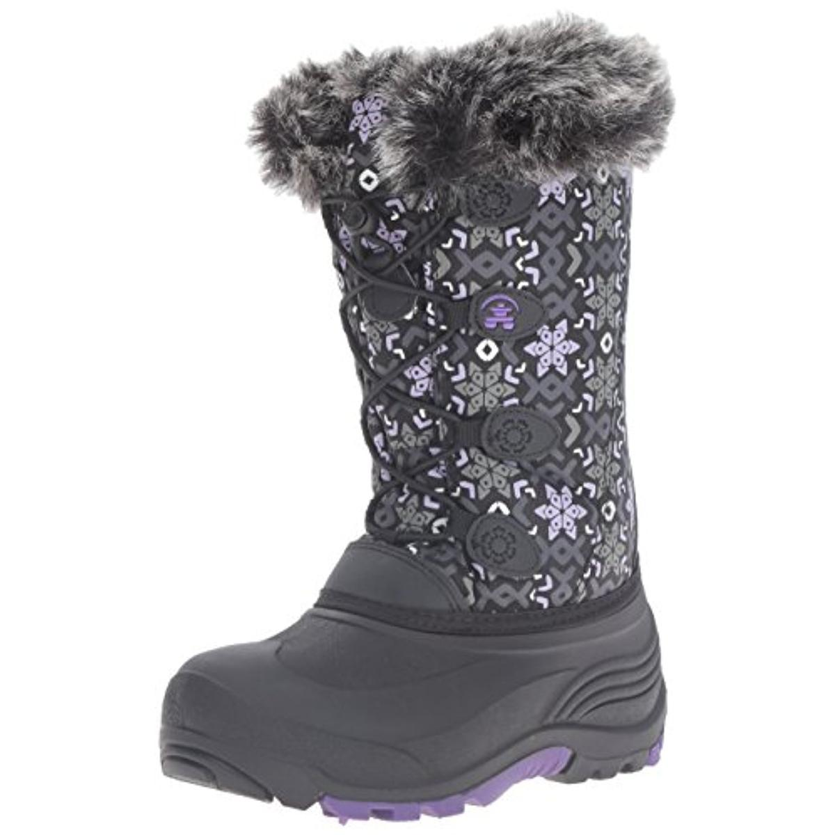 Kamik Girls Snowgypsy 2 Faux Fur Lined Faux Fur Snow Boots by Kamik