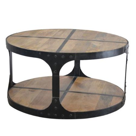 Phillips Wood And Cast Iron Coffee Table