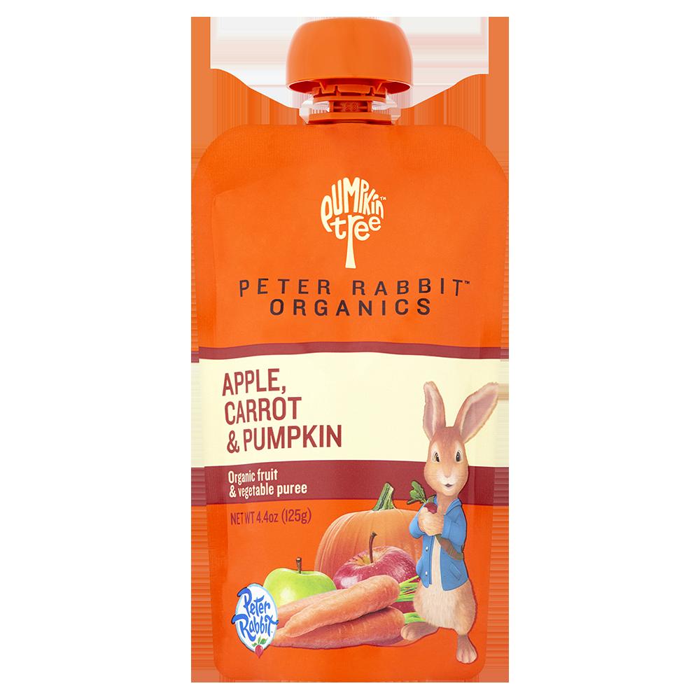 Peter Rabbit Organics Apple, Carrot & Pumpkin Fruit Puree - 4.4 Oz 10 Pack