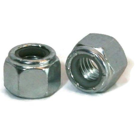 """1/4""""-20 Nylon Insert Lock Nuts Zinc Plated Steel - QTY 100"""