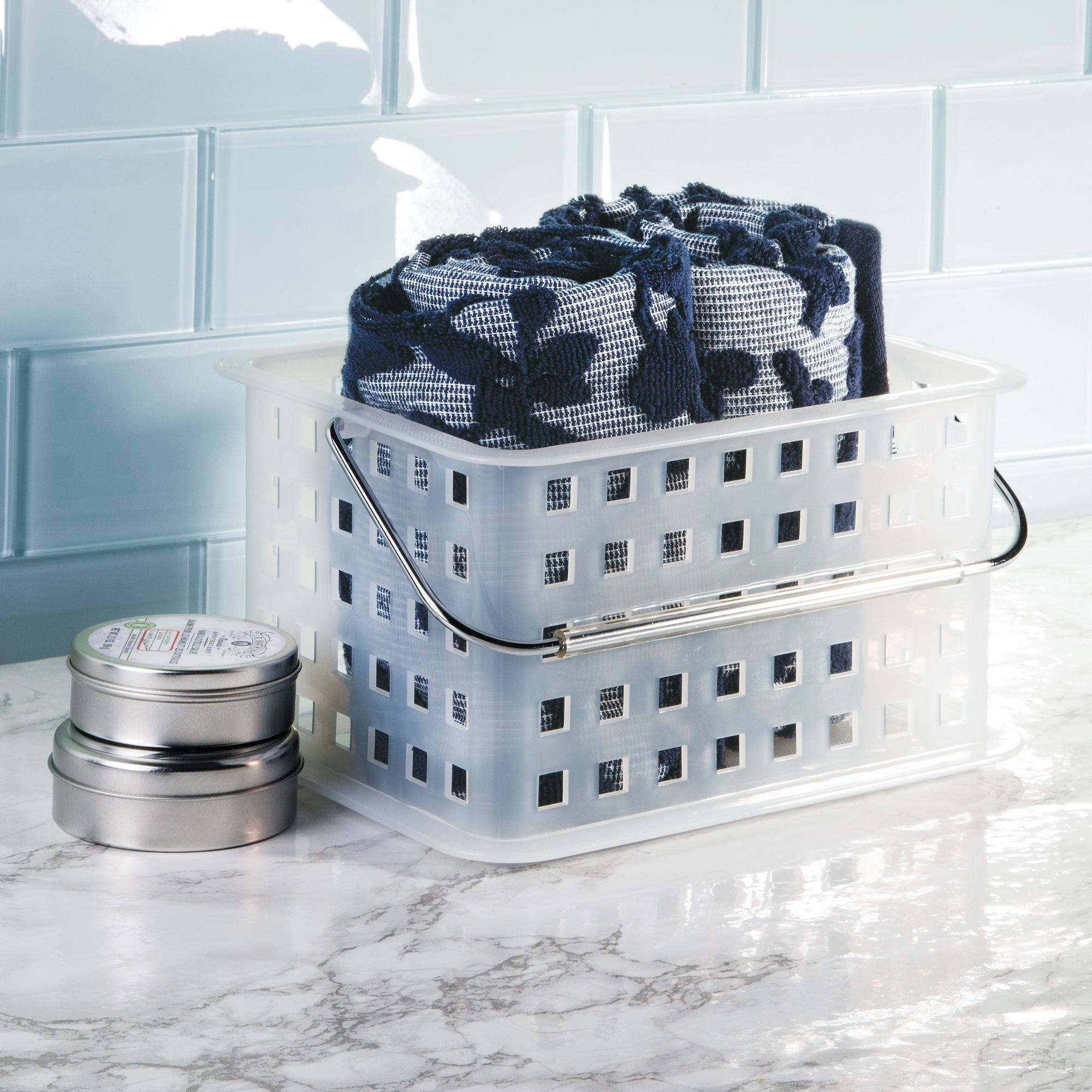 Mainstays Bathroom Shower Caddy Tote Organizer Basket, Available in Multiple Colors by INTERDESIGN
