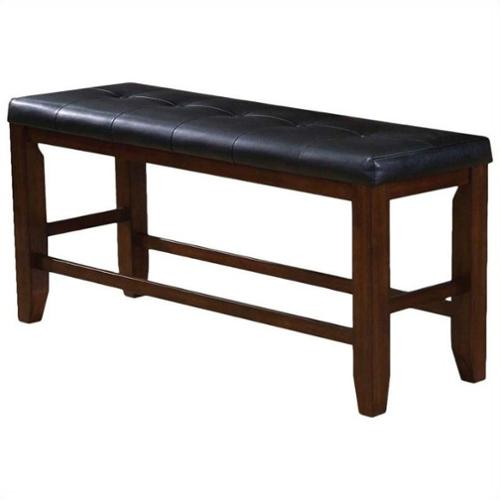 ACME Furniture Urbana Counter Height Bench in Cherry and Black