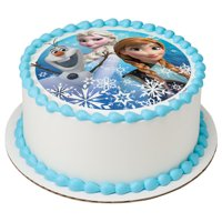 Offically Licensed Disneys Frozen Olaf, Elsa & Anna Edible Cake Cupcake Cookie Image