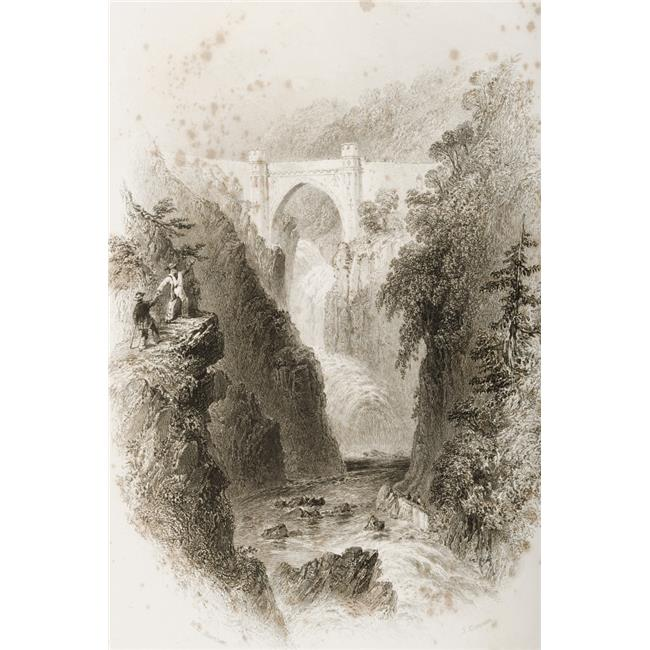 Posterazzi DPI1860362LARGE Phoul A Phuca Falls Ireland. Drawn by W. H. Bartlett Engraved by J. Cousen. From - the Scenery & Antiquities of Ireland - Poster Print, 22 x 34 - image 1 of 1