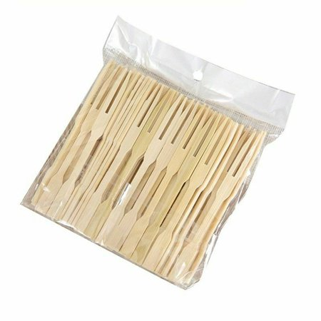 KABOER Bamboo Fork Disposable Wood Fork Fruit Dessert Home Party Cocktail Funny Item