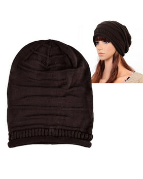 Zodaca Womens Beanie Hat slouchy Beanie Crochet Knit Soft Hat Cap Winter Warm Ladies Girls Mens Unisex Stretch Beanie