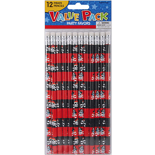 Party Favors, 12-Pack, Pirate Pencils
