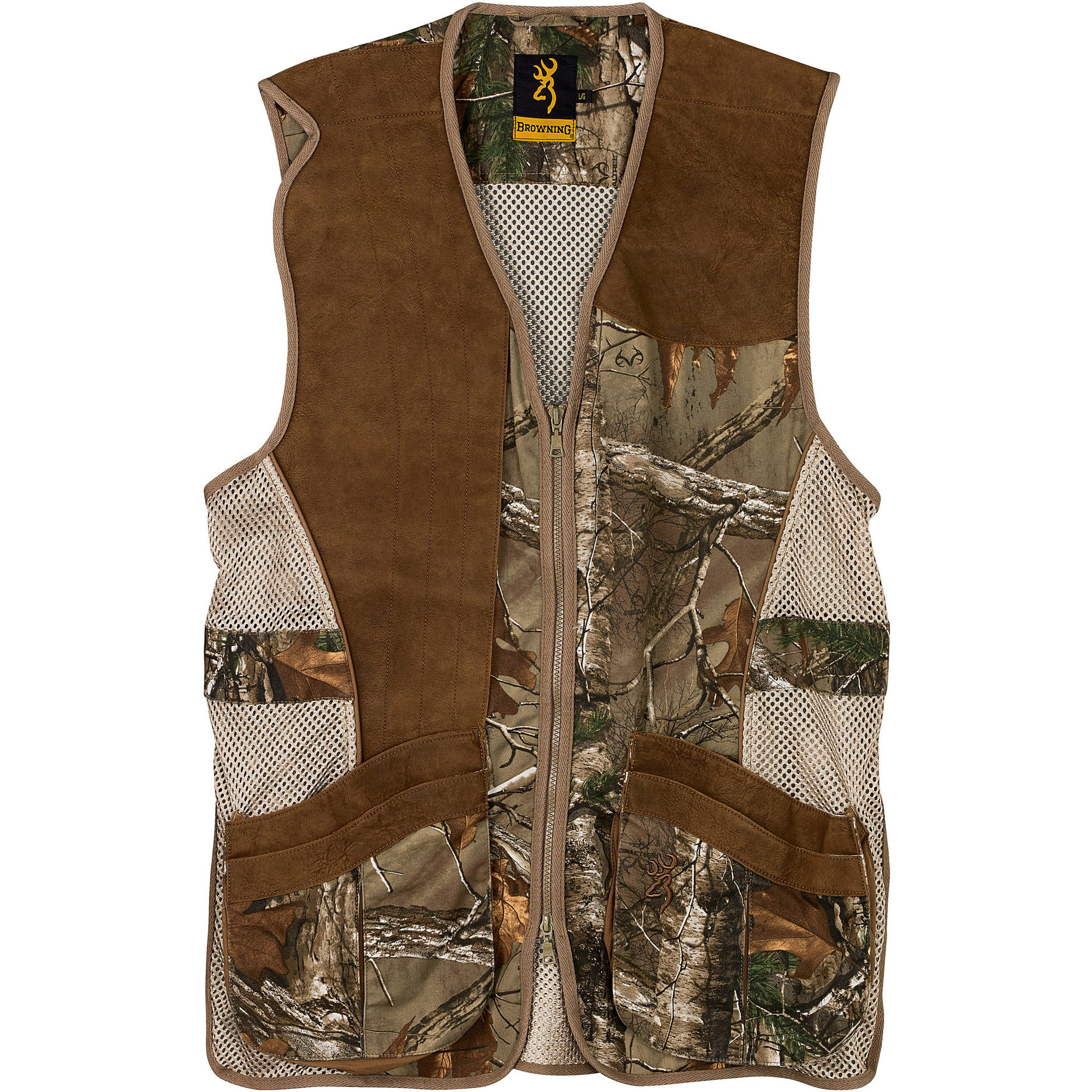 Browning* Leather Shooting Vest (L)- RTX/Leather