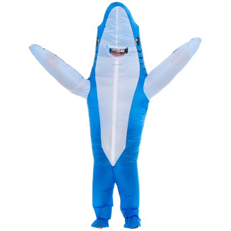 Ferocious 3D Shark Inflatable Adult Halloween Costume for Men & Women for $<!---->
