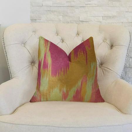 Plutus PBRAZ365-2626-DP Electra Magenta Orange & Cream Handmade Luxury Pillow, 26 x 26 in. - image 2 de 3