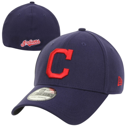 New Era Cleveland Indians MLB Team Classic 39THIRTY Flex Hat - Navy