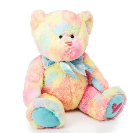 Way To Celebrate Valentine's Day Large Plush, Rainbow Bear - Rainbow Bears