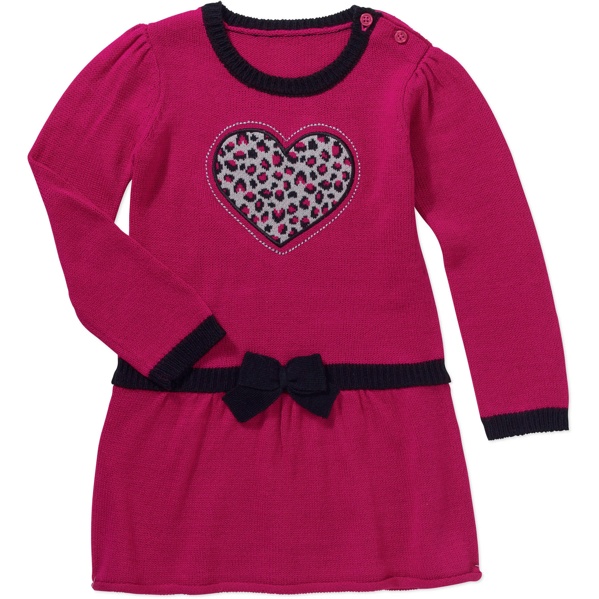 Healthtex Baby Toddler Girl Drop Waist Sweater Dress