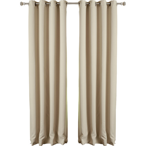 Best Home Fashion, Inc. Solid Grommet Top Thermal Insulated Blackout Curtain Panels (Set of 2)