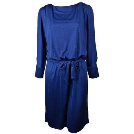 Cachet Womens Cold Shoulder Sparkle Dress 10 Midnight Blue