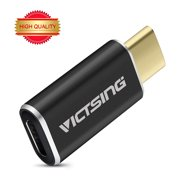 VicTsing USB 3.1 Type-C to Micro USB Convert Connector ,Support Data Transfer and Charging, for MacBook 12inch 2015, OnePlus 2, and other Type-C Supported Smart Phones and Tablet-Black