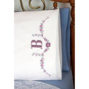 "Beautiful Butterflies - Stamped Perle Edge Pillowcases 30""X20"" 2/Pkg"