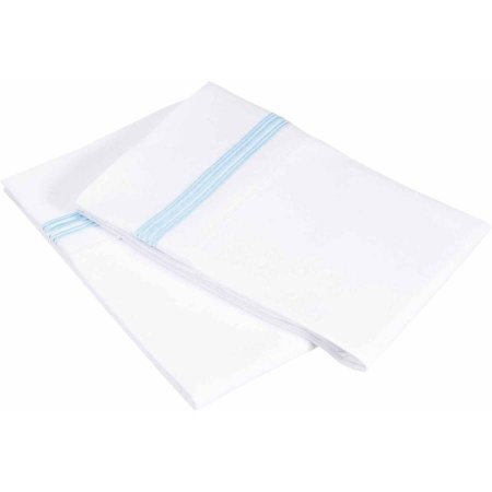 Superior Super Soft Brushed Microfiber, Wrinkle Resistant Pillowcase Set with 5-Line Embroidery