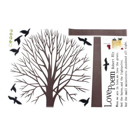 Love Poem Tree Pattern Window Living Room Art Decal Wall Sticker Decor - image 2 de 3