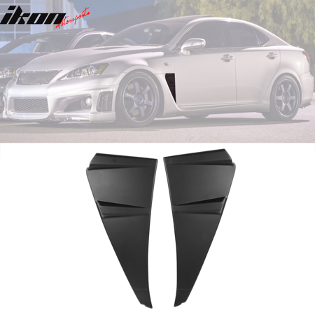 Compatible with 08-14 Lexus ISF Novel Style Side Vent Fender Air Wing Trim 2 Pieces PP