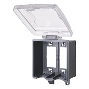 Red Dot 2CKNM-NG Outlet Box While-In-Use Cover, 2 Gang, 4-3/4-Inch Depth, Clear