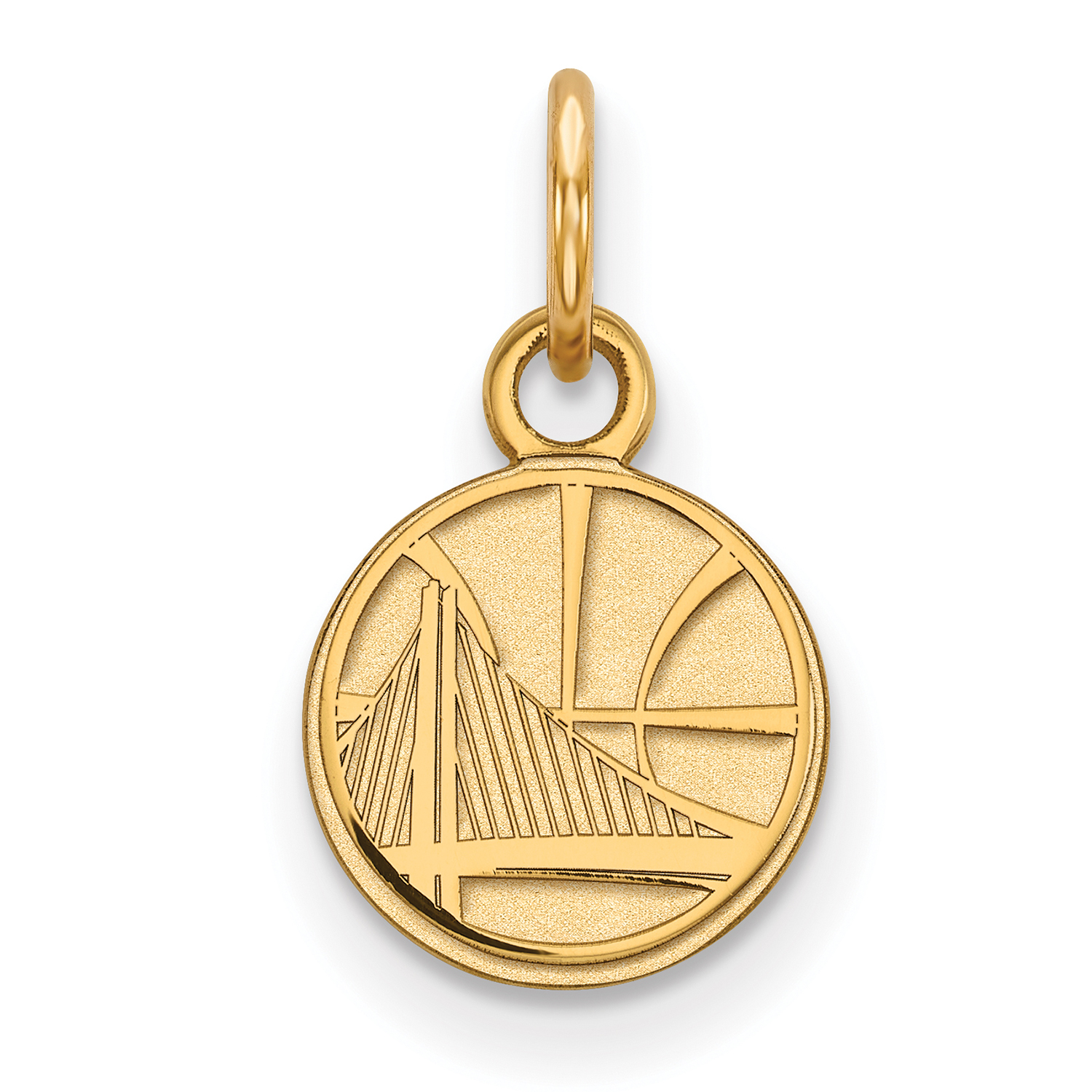 Golden State Warriors Women's Gold Plated XS Pendant - No Size