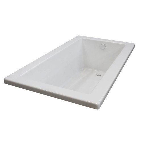 Spa Escapes Guadalupe 60'' x 30'' Rectangular Soaking Bathtub with Reversible Drain