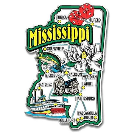 Mississippi Jumbo State Map Fridge Magnet
