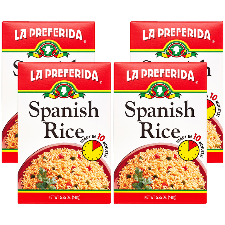 La Preferida Spanish Rice, 5.25 oz (4 Packs)