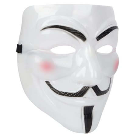 V for Vendetta Anonymous Guy Fawkes Plastic Mask - V Halloween Mask