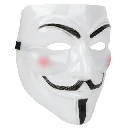 Plastic Half Mask (V for Vendetta Anonymous Guy Fawkes Plastic)