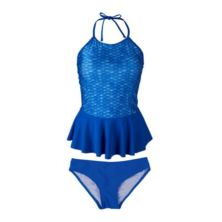 Womens Peplum Tankini Set by Fin Fun, Matches Fin Fun Mermaid Tails (Adult Mermaid Swimsuit)