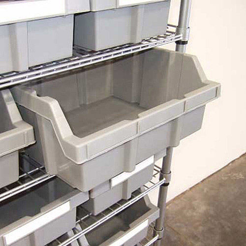 Seville Classics Extra Large Bins for Commercial Bin Rack System, 2pk
