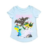 How To Train Your Dragon Toddler Girls Blue All My Friends T-Shirt Tee Shirt